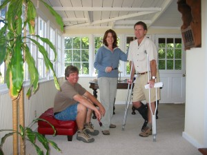 Showing Property with My Broken Leg, Summer 2004
